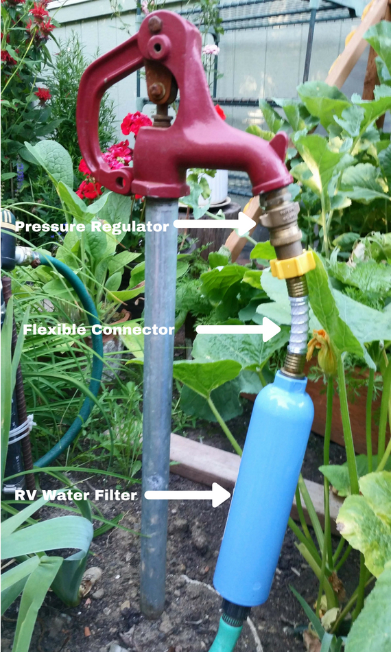 RV Water Filter For Vertical Garden Use